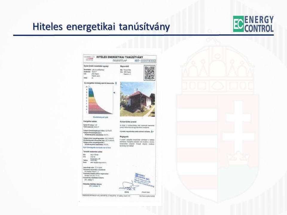 Hiteles energetikai tanúsítvány