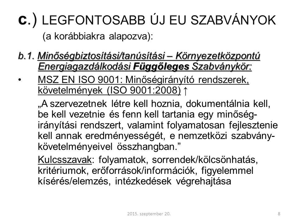 MSZ EN 16247 szabványsorozat az energiaauditokról 16247-1:2012 Energiauditok.