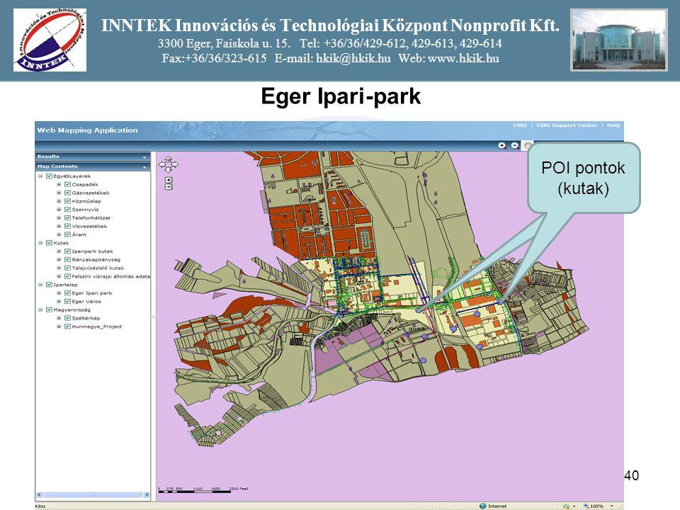 40 INNTEK Innovációs és Technológiai Központ Nonprofit Kft.
