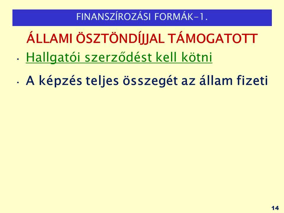 FINANSZÍROZÁSI FORMÁK-1.