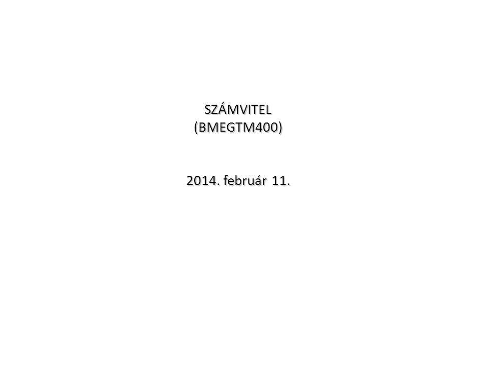 SZÁMVITEL (BMEGTM400) 2014. február 11. Beszámoló részei A mérleg Alapvető gazdasági események