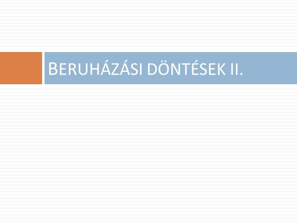 B ERUHÁZÁSI DÖNTÉSEK II.