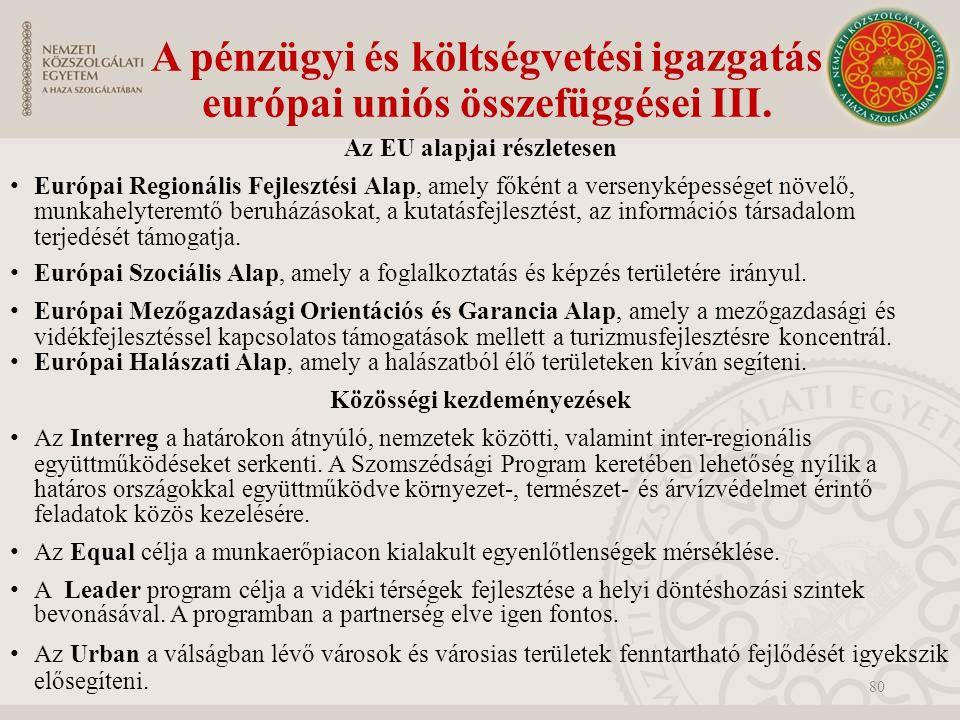 A pénzügyi és költségvetési igazgatás európai uniós összefüggései III.