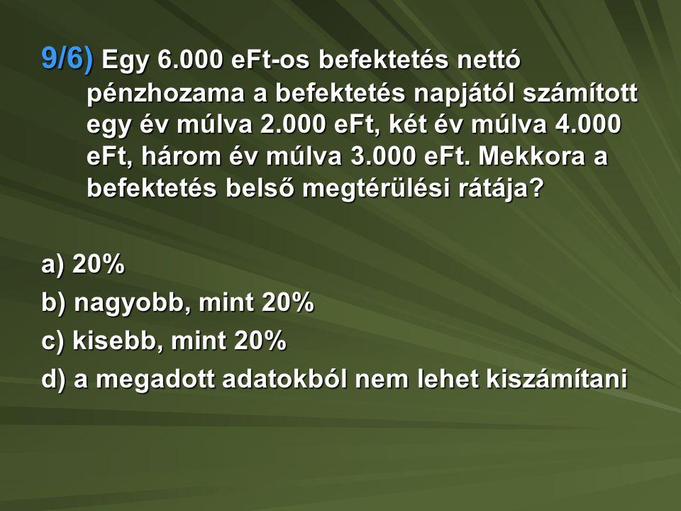 9/7) A SZALONNA szaloncukor gyártó kft.