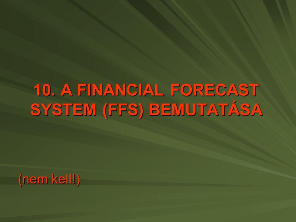 10. A FINANCIAL FORECAST SYSTEM (FFS) BEMUTATÁSA (nem kell!)