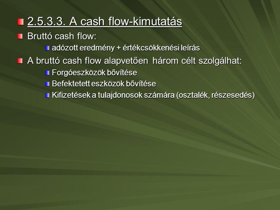 2.5.4.A hosszú távú pénzügyi tervek 2.5.4.1.