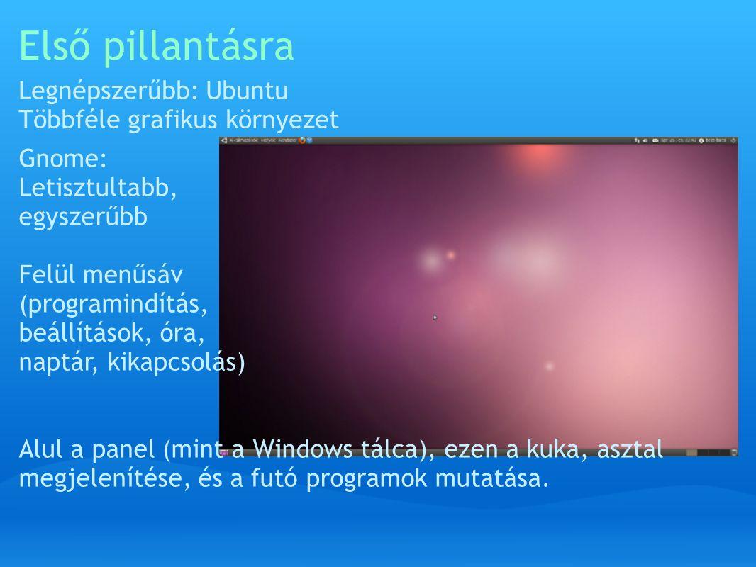 KDE asztal Windows-os kinézet, panel (tálca) csak alul van.