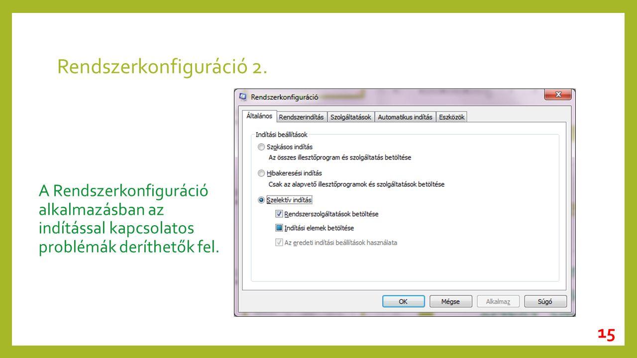 Rendszerkonfiguráció 2.