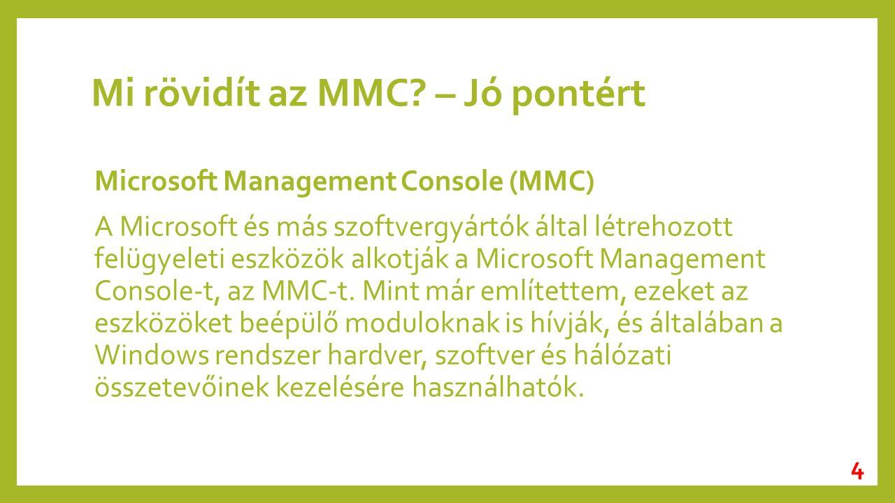Mi rövidít az MMC.
