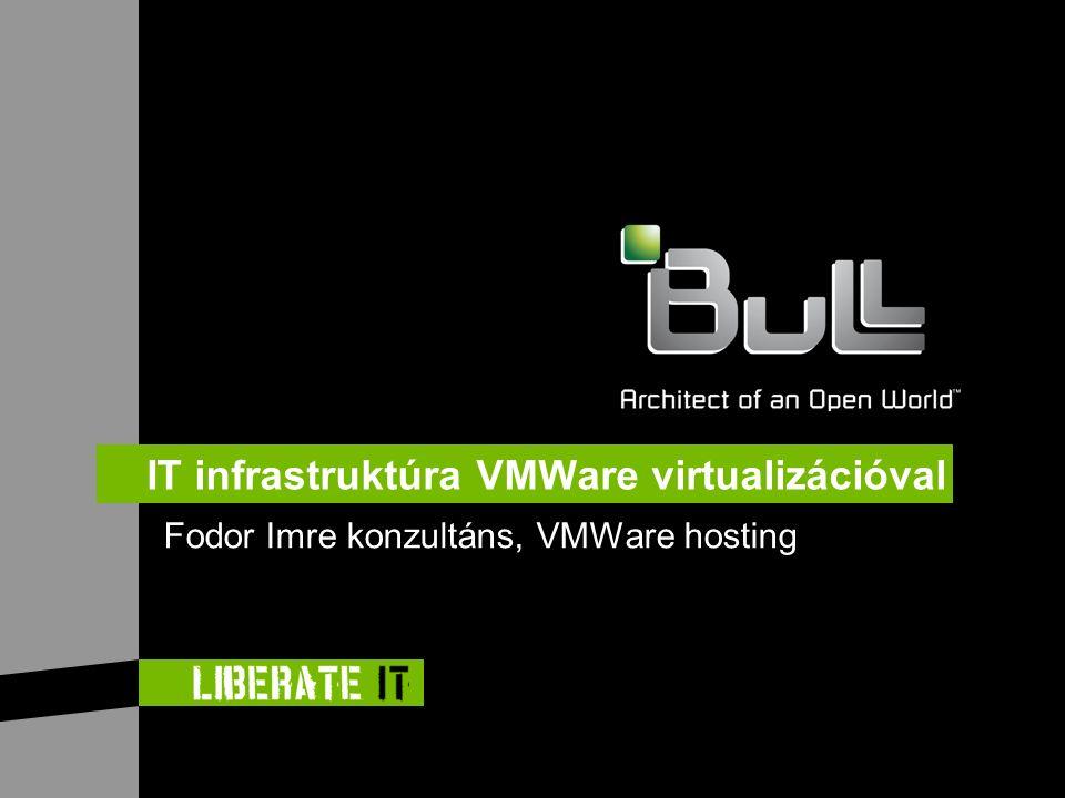 IT infrastruktúra VMWare virtualizációval Fodor Imre konzultáns, VMWare hosting