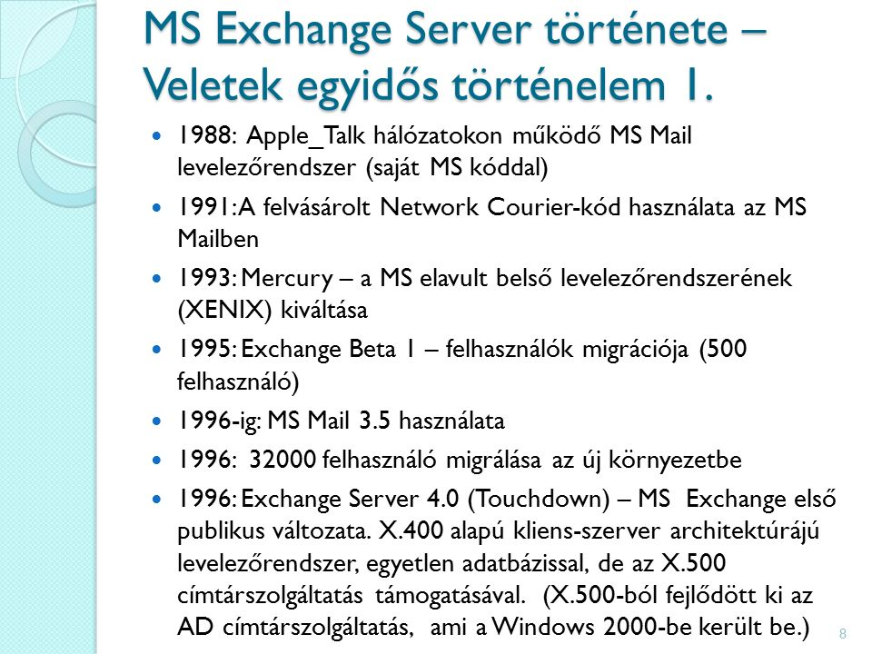 MS Exchange Server története – Veletek egyidős történelem 1.