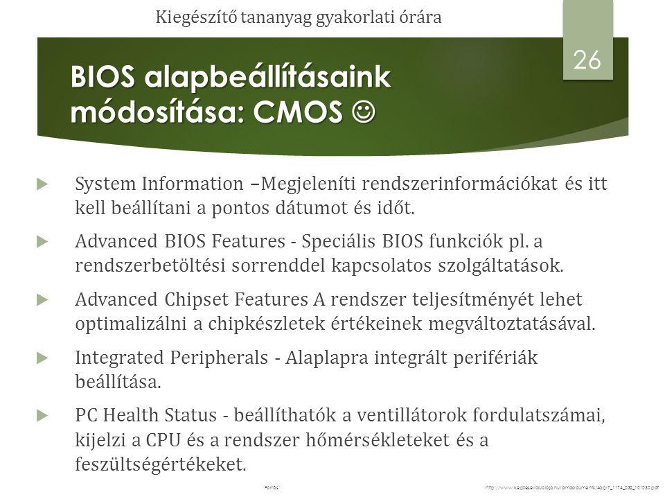 BIOS alapbeállításaink módosítása: CMOS BIOS alapbeállításaink módosítása: CMOS  Bootolási sorrend meghatározása  A főmenüben válasszuk ki az Advanced BIOS Features menüpontot, majd a megjelenő panelen pedig a Boot Device Priority almenüpontot az billentyű lenyomásával.