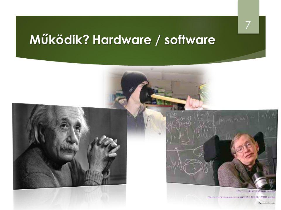 A software / szoftver  A szoftver adja a számítógép működésének logikai alapjait.
