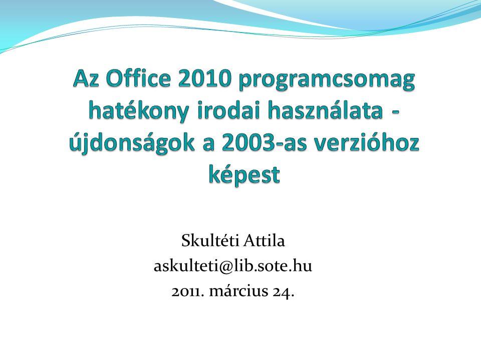 Skultéti Attila askulteti@lib.sote.hu 2011. március 24.