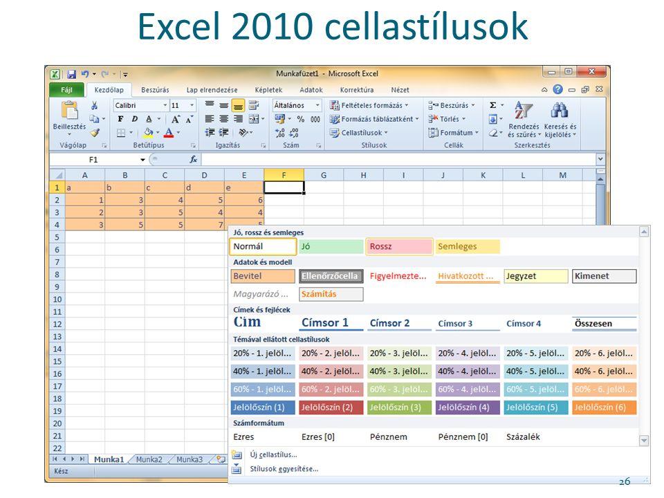 Excel 2010 cellastílusok 26