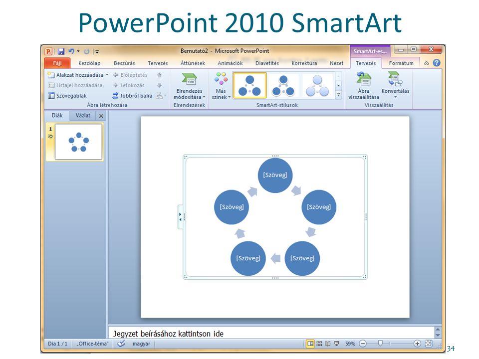 PowerPoint 2010 SmartArt 34
