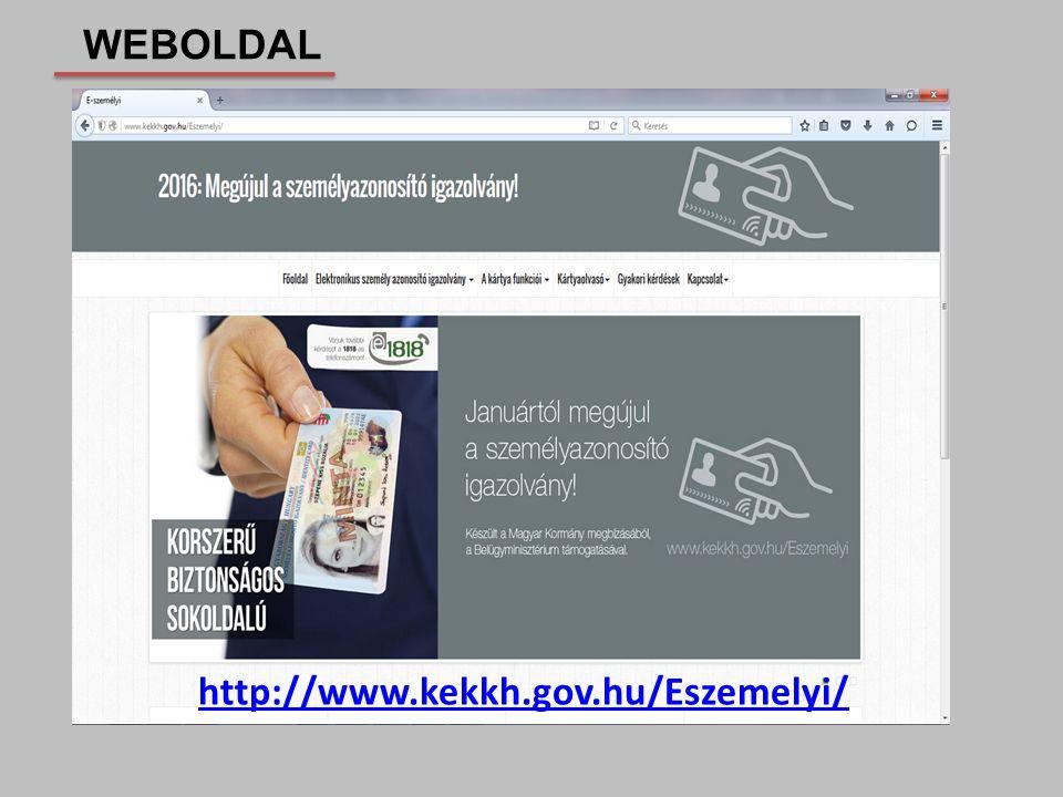 http://www.kekkh.gov.hu/Eszemelyi/ WEBOLDAL