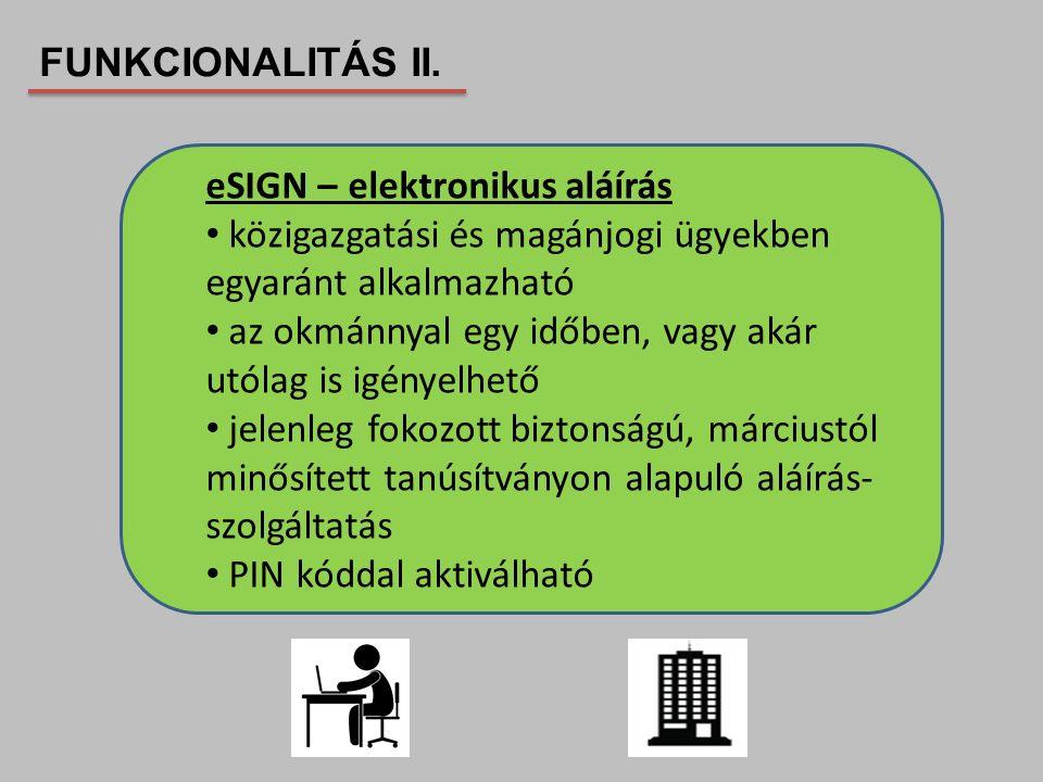 eSIGN – elektronikus aláírás közigazgatási és magánjogi ügyekben egyaránt alkalmazható az okmánnyal egy időben, vagy akár utólag is igényelhető jelenl