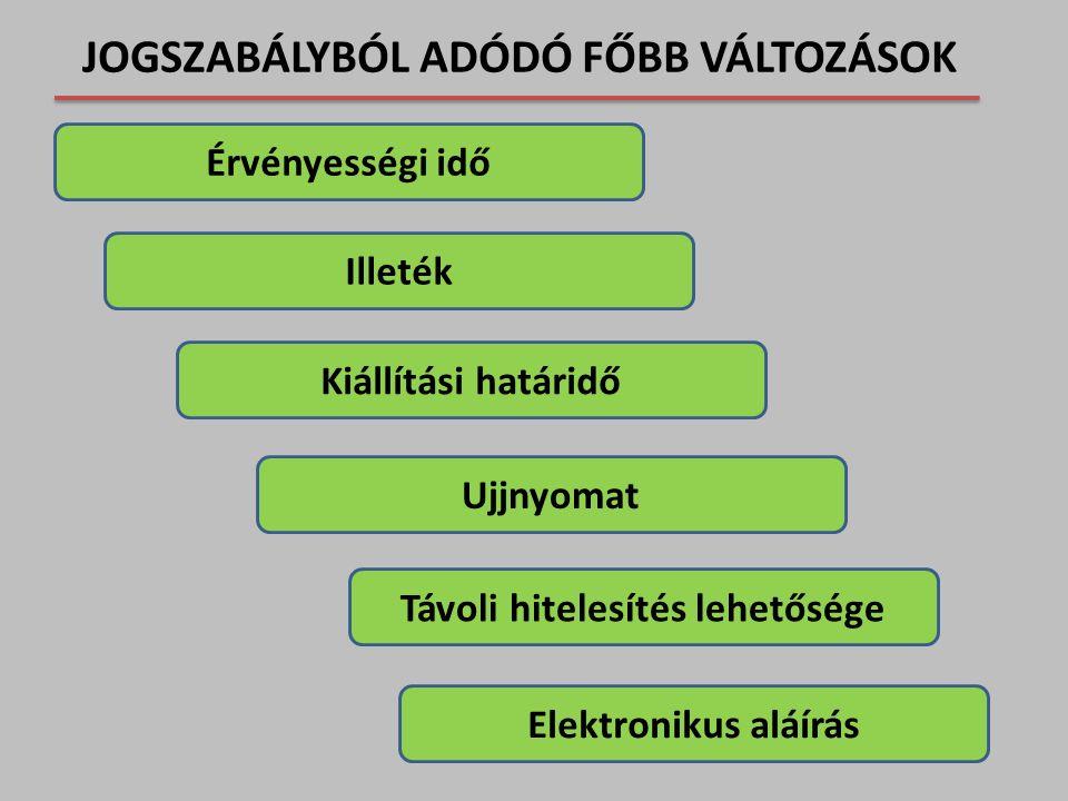 Az elektronikus tároló elemének (chipjének) jellemzői II.