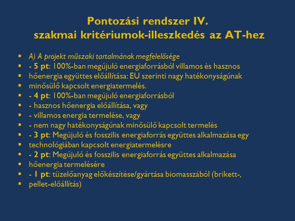 Pontozási rendszer IV.
