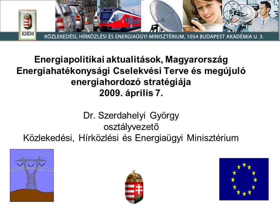 Energiapolitikai aktualitások, Magyarország Energiahatékonysági Cselekvési Terve és megújuló energiahordozó stratégiája 2009.