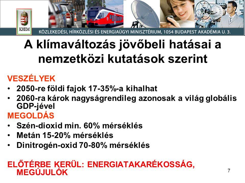 18 ÖSSZES MEGÚJULÓ ENERGIAHORDOZÓ (tartalmazza a villamosenergia-termelésre felhasznált energiahordozókat is) 20012007 (2008) PJ % Geotermia3,6 6,4 Napenergia napkollektor napelem 0,06 0 0,1 0,001 0000 Tűzifa és hulladék (szilárd biomassza) 30,645,1880,7 Biogáz0,130,601 Vízenergia0,670,761 Szélenergia00,400,7 Bio-üzemanyagok00,841,5 ÖSSZESEN35,151,4891,3 Hulladékégetés1,34,538,7 Mindösszesen 36,456,0 (60)100