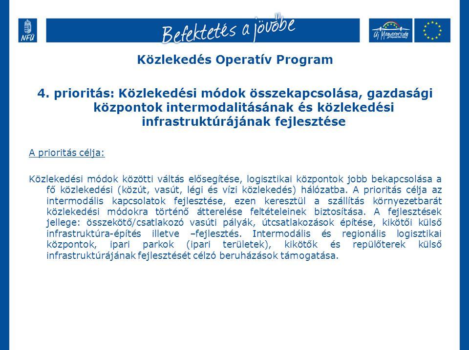 Közlekedés Operatív Program 4.