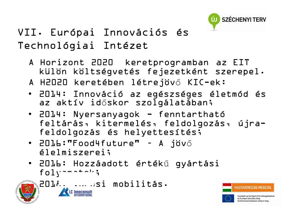 A Horizont 2020 keretprogramban az EIT külön költségvetés fejezetként szerepel.