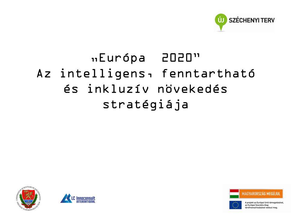 """""""Európa 2020 Az intelligens, fenntartható és inkluzív növekedés stratégiája"""