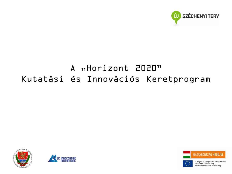 """A """"Horizont 2020 Kutatási és Innovációs Keretprogram"""