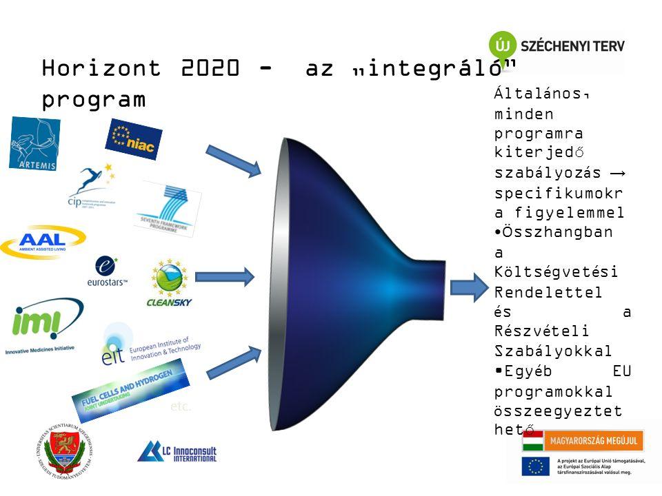 """Horizont 2020 - az """"integráló program etc."""