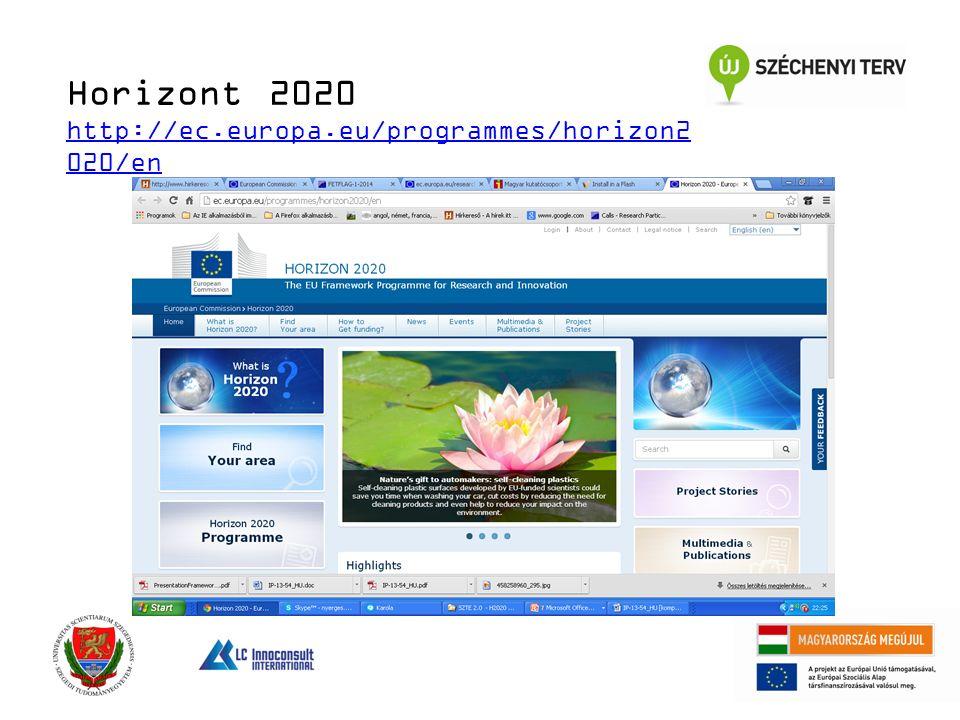 Horizont 2020 http://ec.europa.eu/programmes/horizon2 020/en http://ec.europa.eu/programmes/horizon2 020/en