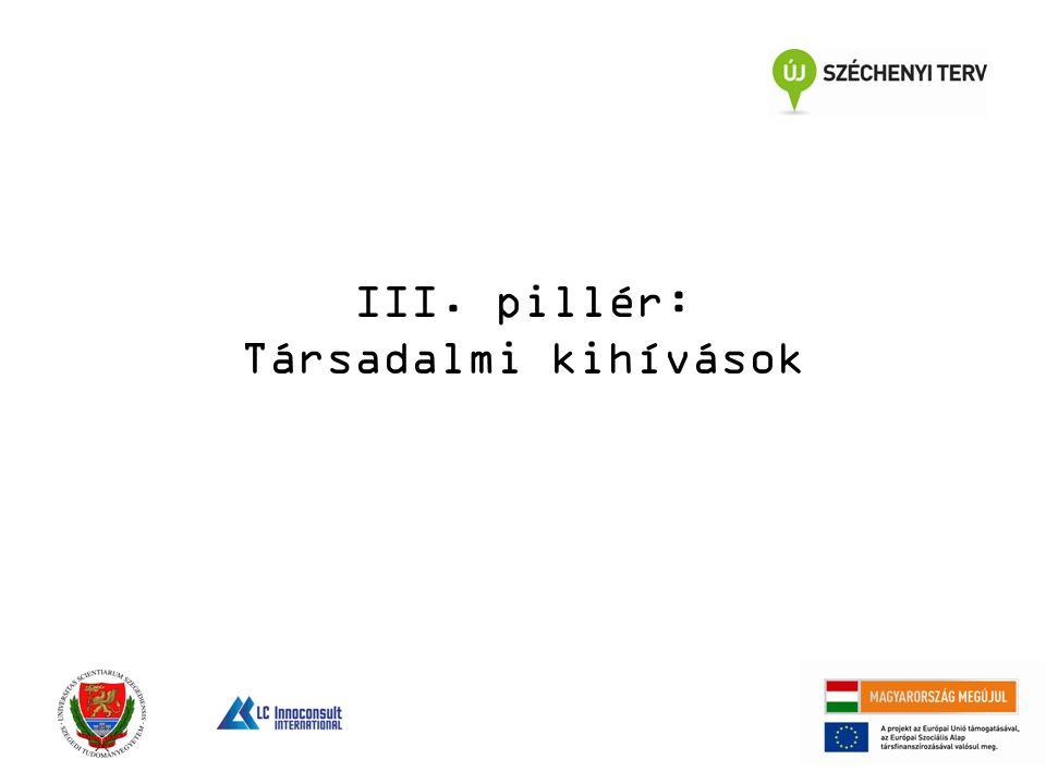 III. pillér: Társadalmi kihívások