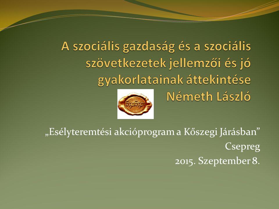 """""""Esélyteremtési akcióprogram a Kőszegi Járásban Csepreg 2015. Szeptember 8."""