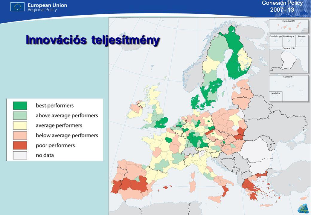 20 Cohesion Policy 2007 - 13 A legfontosabb támogatási területek közlekedés8,5 mld € 29% regionális fejlesztés5,8 mld € 23% környezetvédelem5,0 mld € 17% T&K, innovációk 4,1 mld € 14% szociális infrastruktúra2,9 mld € 10% Mindez (és még mások is) 15 operatív programban (ebből 7 ROP)
