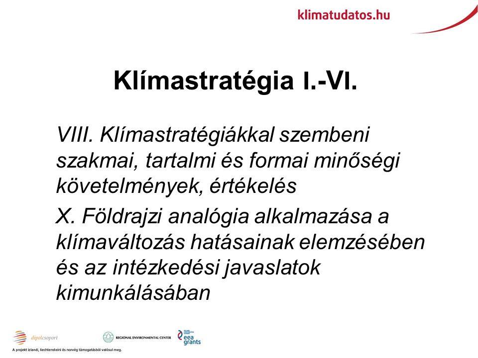 Klímastratégia I. -V I. VIII.