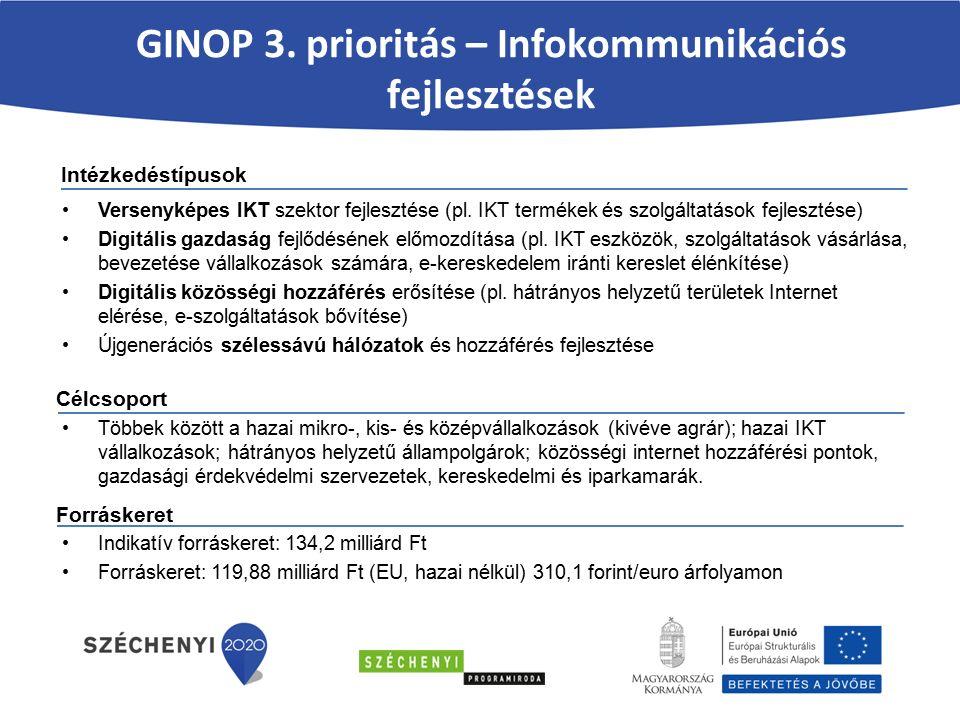 Versenyképes IKT szektor fejlesztése (pl.