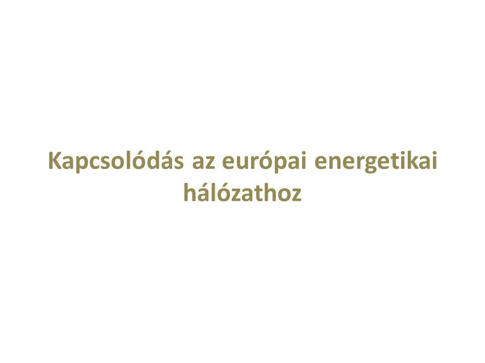 Kapcsolódás az európai energetikai hálózathoz