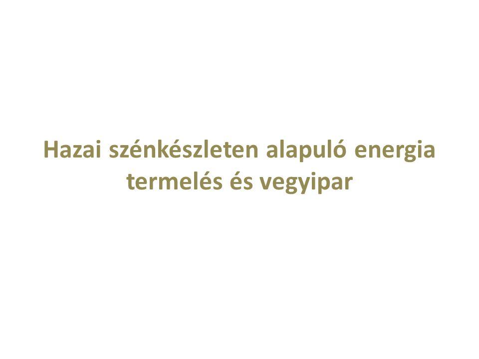 Hazai szénkészleten alapuló energia termelés és vegyipar