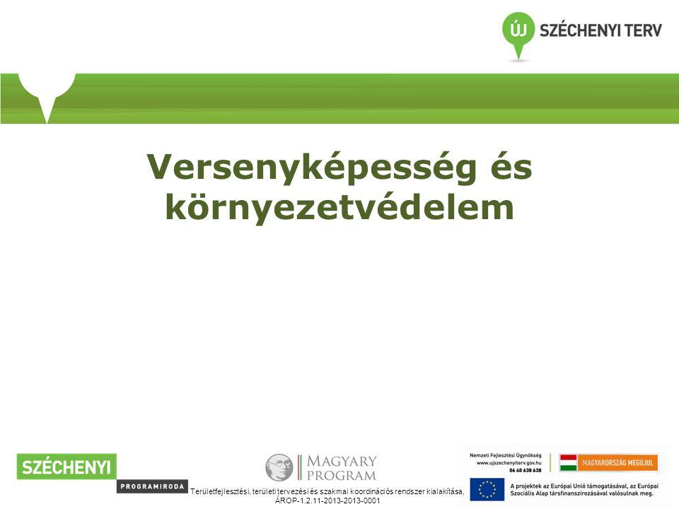 Versenyképesség és környezetvédelem Területfejlesztési, területi tervezési és szakmai koordinációs rendszer kialakítása, ÁROP-1.2.11-2013-2013-0001