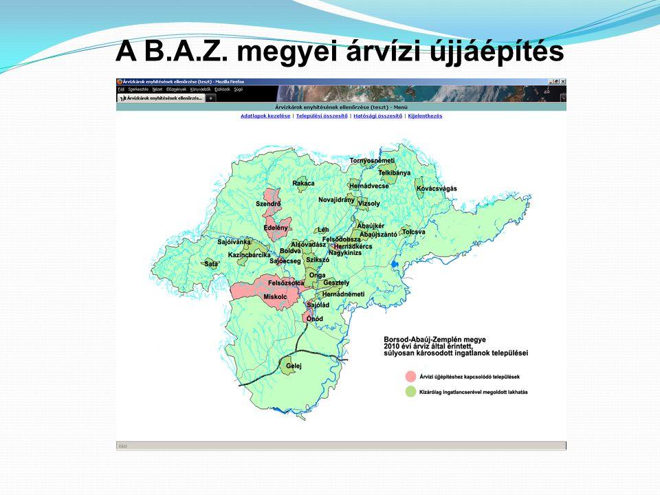 A B.A.Z. megyei árvízi újjáépítés