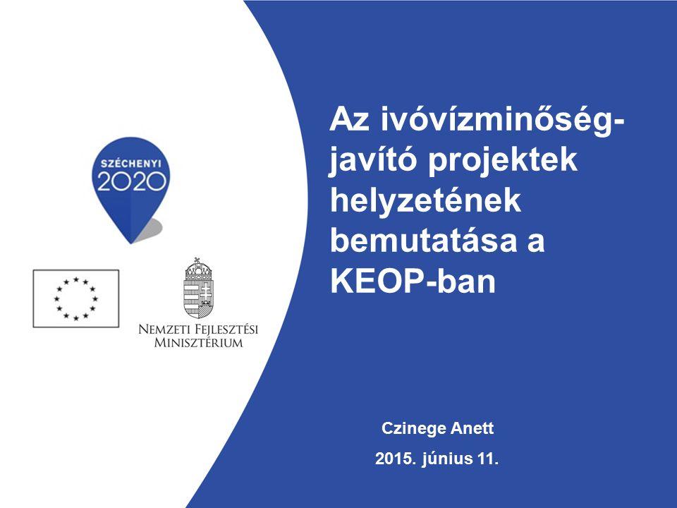 Az ivóvízminőség- javító projektek helyzetének bemutatása a KEOP-ban Czinege Anett 2015. június 11.