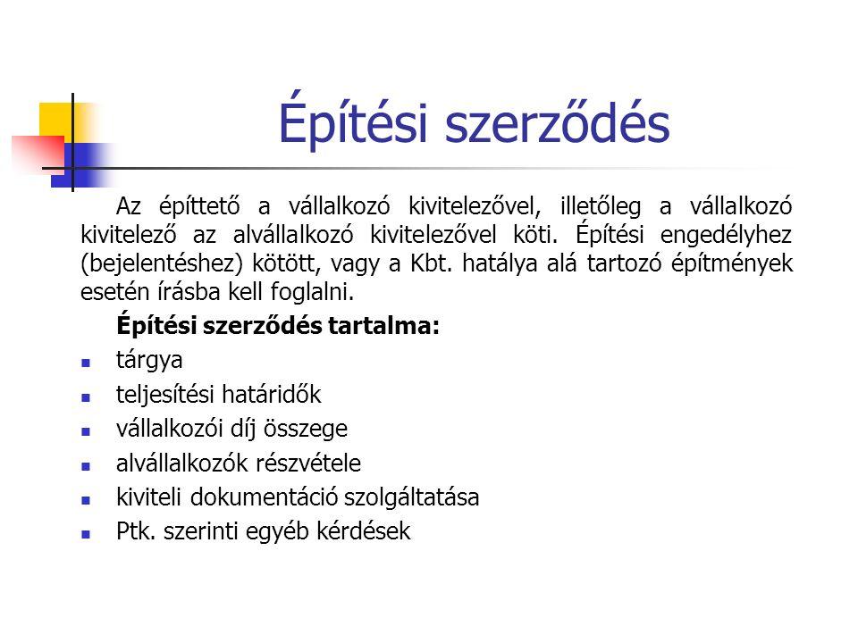 Építési (bontási) engedély, bejelentés 37/2007.(XII.13.) ÖTM rendelet 1.