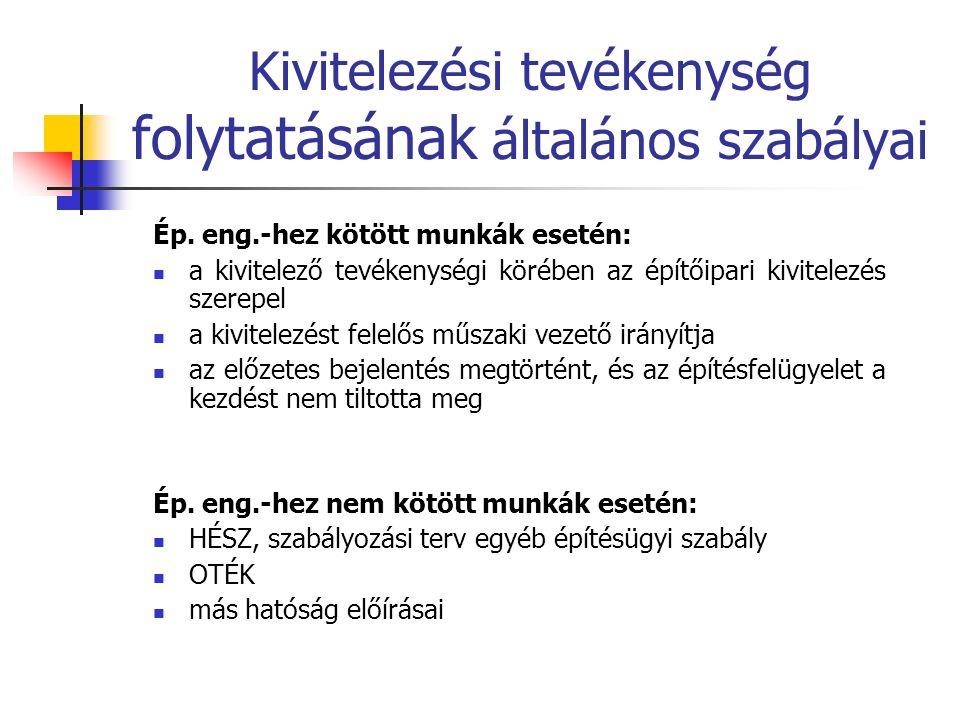 Az építési napló Minden építési engedélyhez (bejelentéshez) kötött, valamint a közbeszerzési tv.