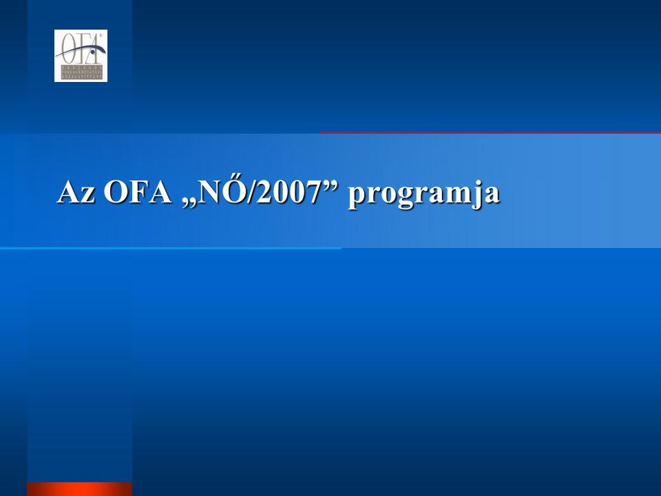 """Az OFA """"NŐ/2007 programja"""