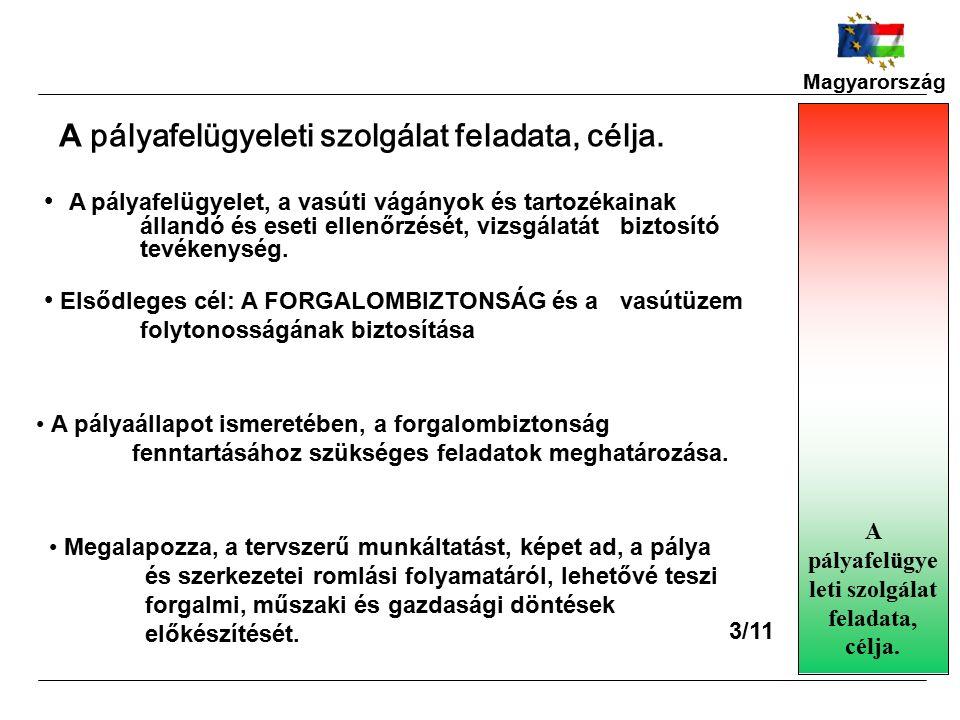 Magyarország A pályafelügyelet, a vasúti vágányok és tartozékainak állandó és eseti ellenőrzését, vizsgálatát biztosító tevékenység.