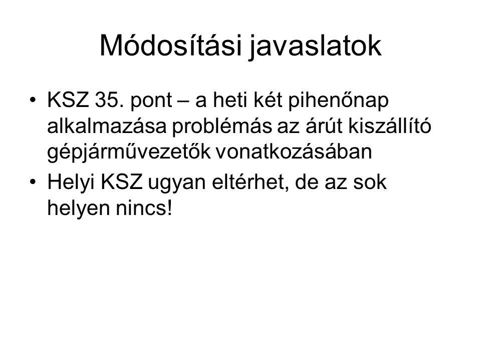 Módosítási javaslatok KSZ 35.