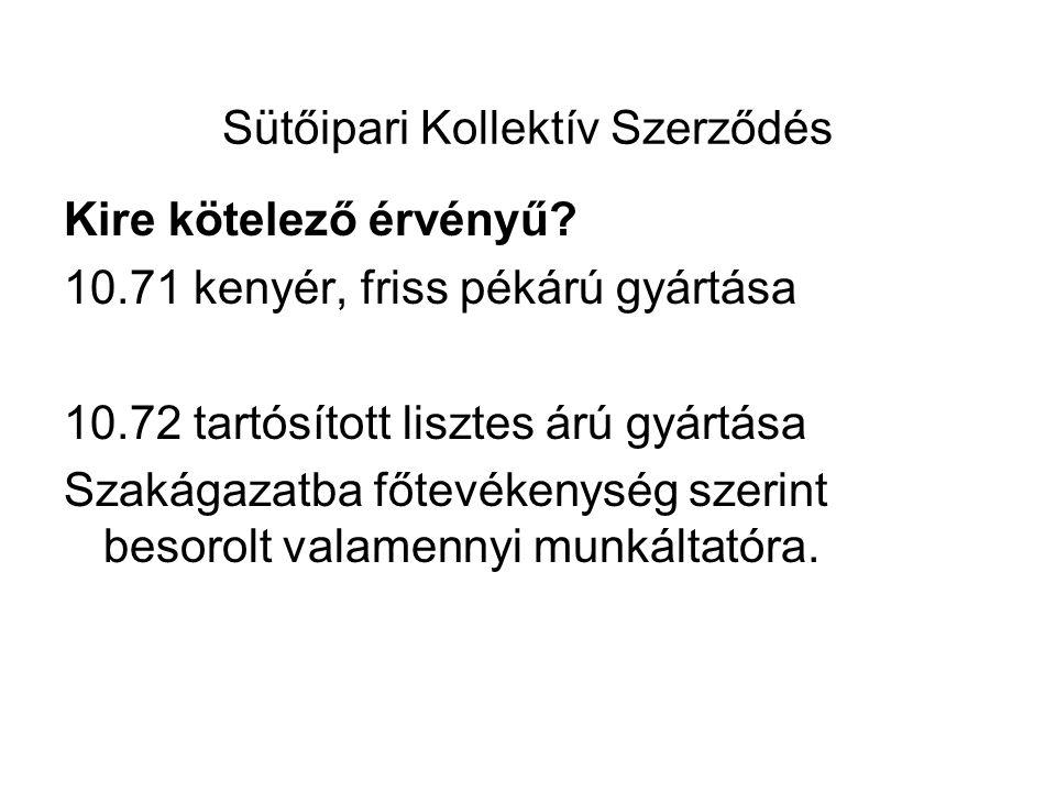 Sütőipari KSZ 2009 évi módosítása hatályos 2010.01.01-től VII.
