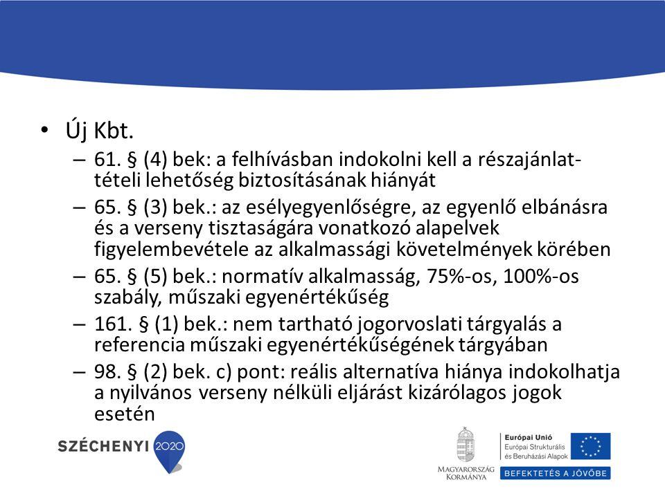 Új Kbt. – 61.