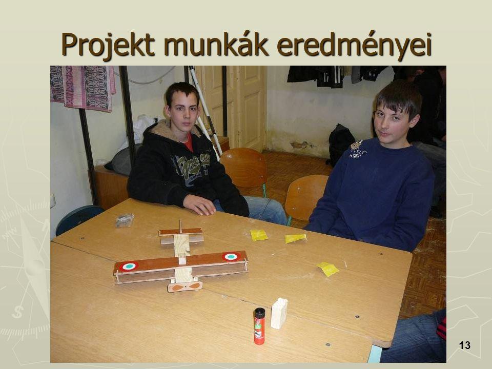 Projekt munkák eredményei 13